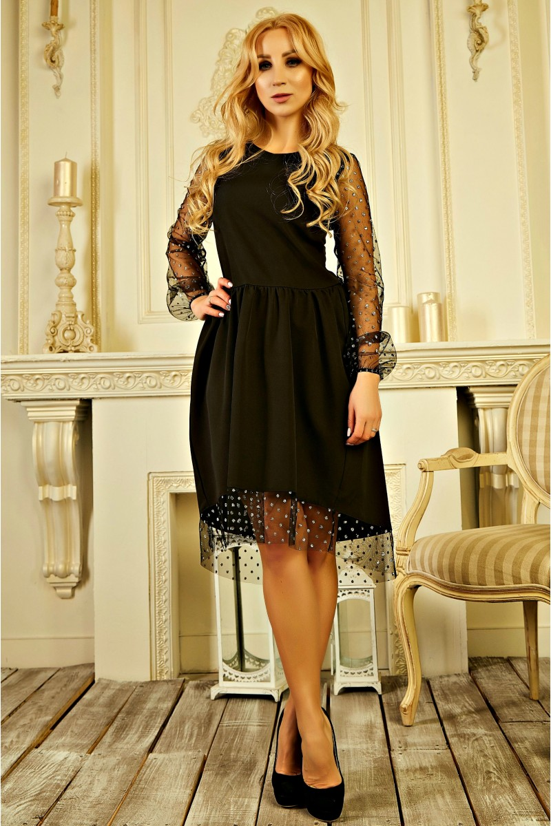 Купити вишукане плаття 2019 без передплати AD727503 чорного кольору ... f45d81a353193