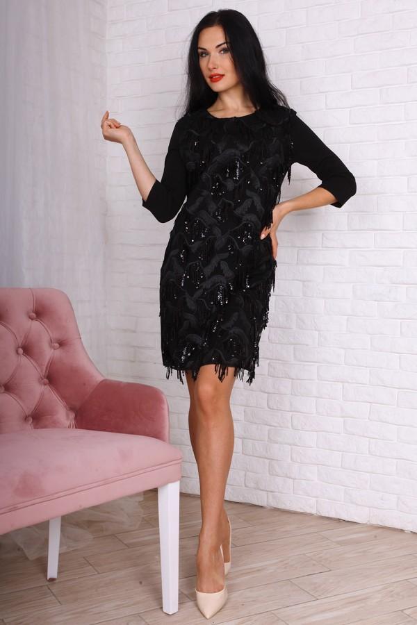 Вечірнє плаття AL75901 чорного кольору