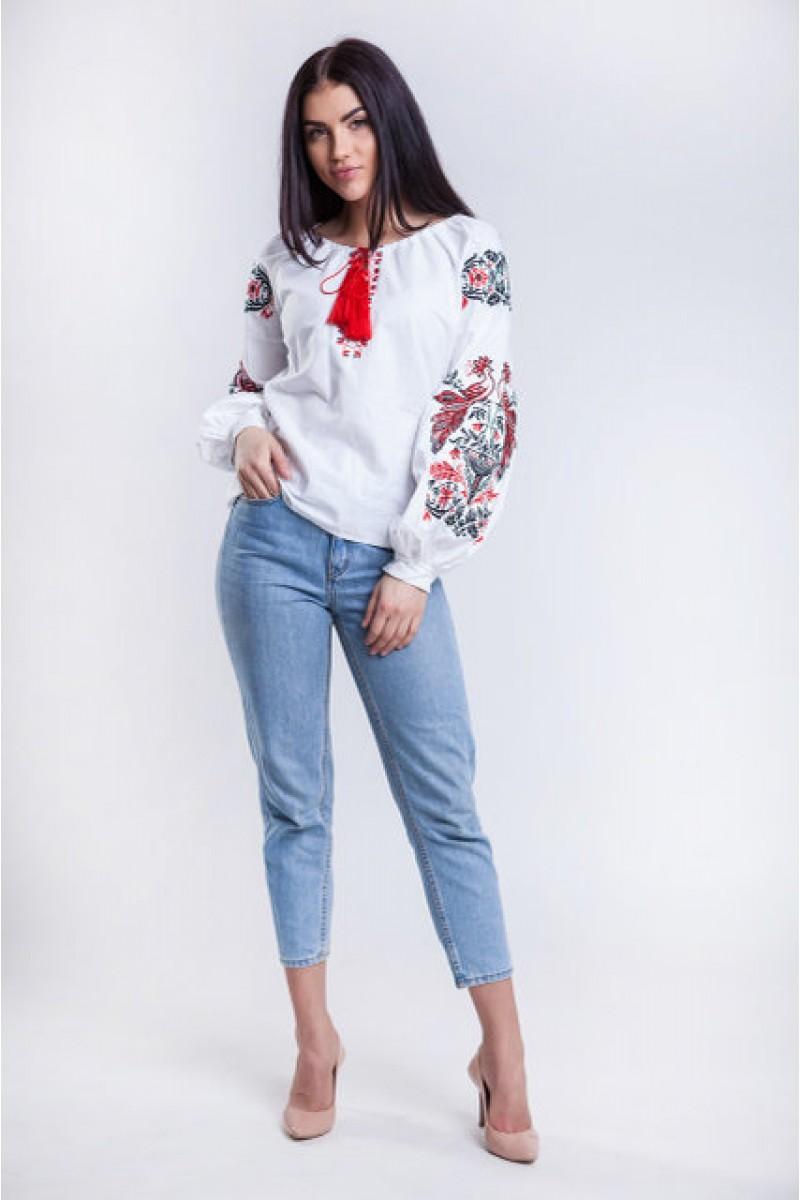 Купить женскую вышиванку с украинским орнаментом MR20701 Жар Птица ... 8ce8a50a8368d