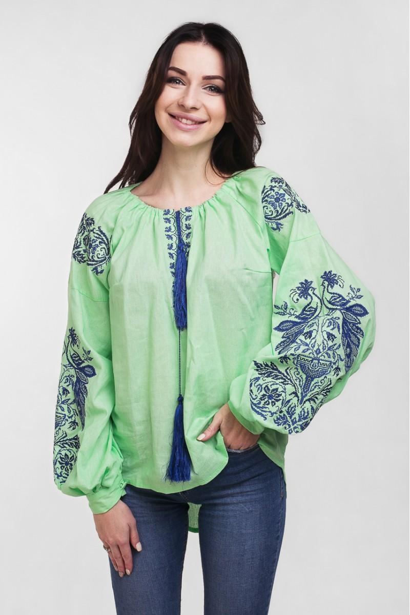 Купить современную женскую вышиванку с орнаментом MR20501 Жар Птица ... 7af675eb39b63