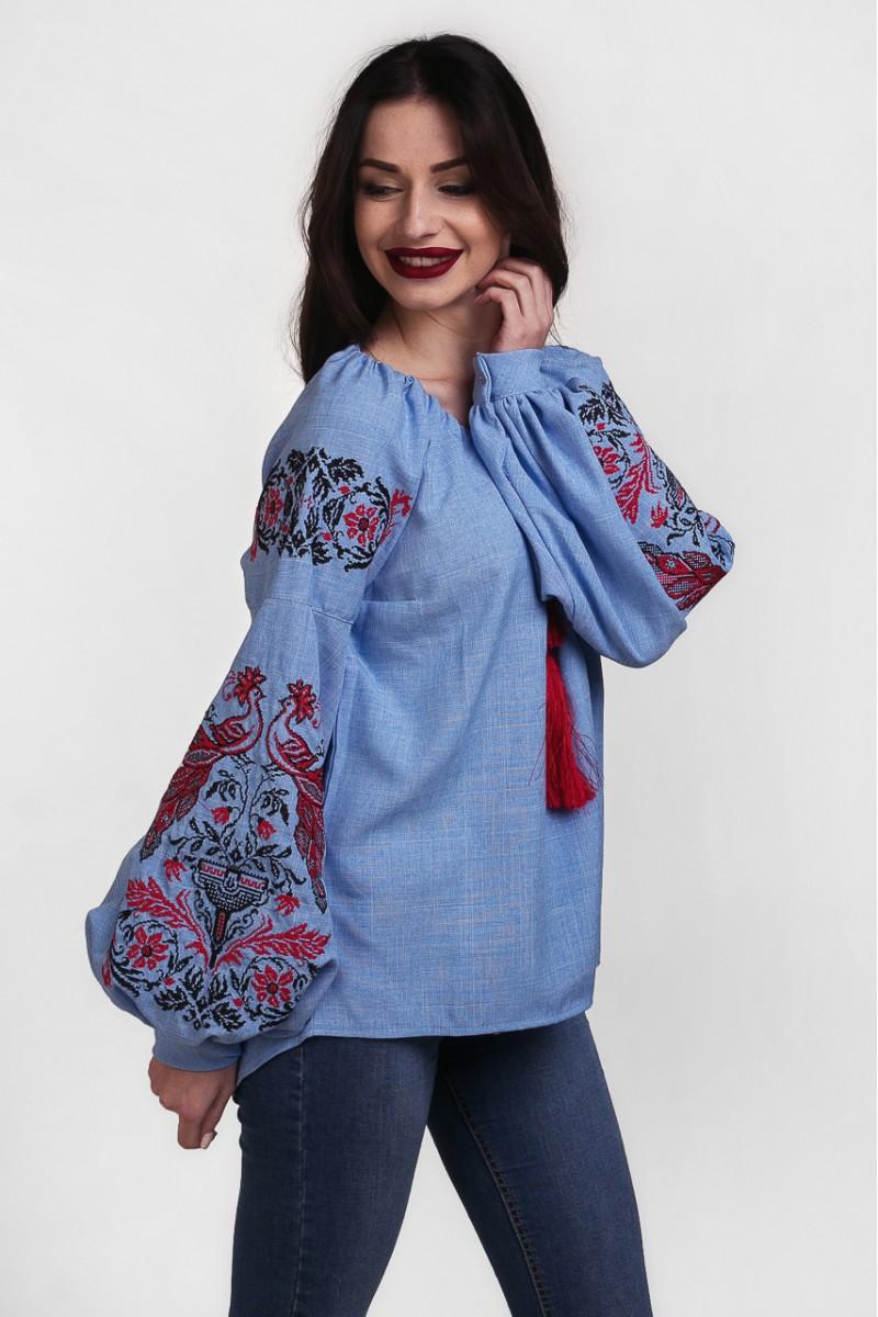 Купить женскую вышиванку с украинским орнаментом MR20801 Жар Птица ... 66e07298d6d08