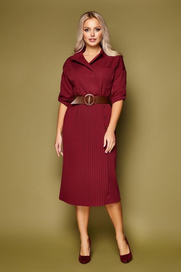 Сукня Заїру д/р GL51390 колір бордо
