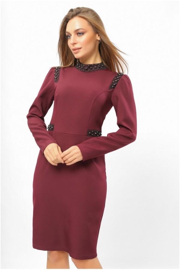 Бордове святкове плаття 2020 LP331201