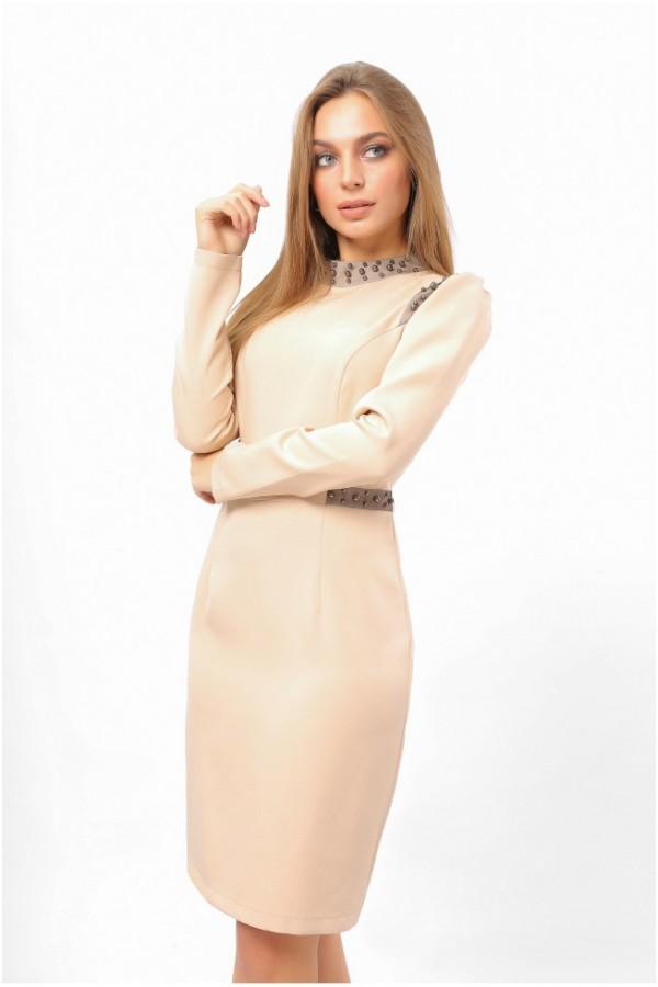 Бежеве святкове плаття 2020 LP331202