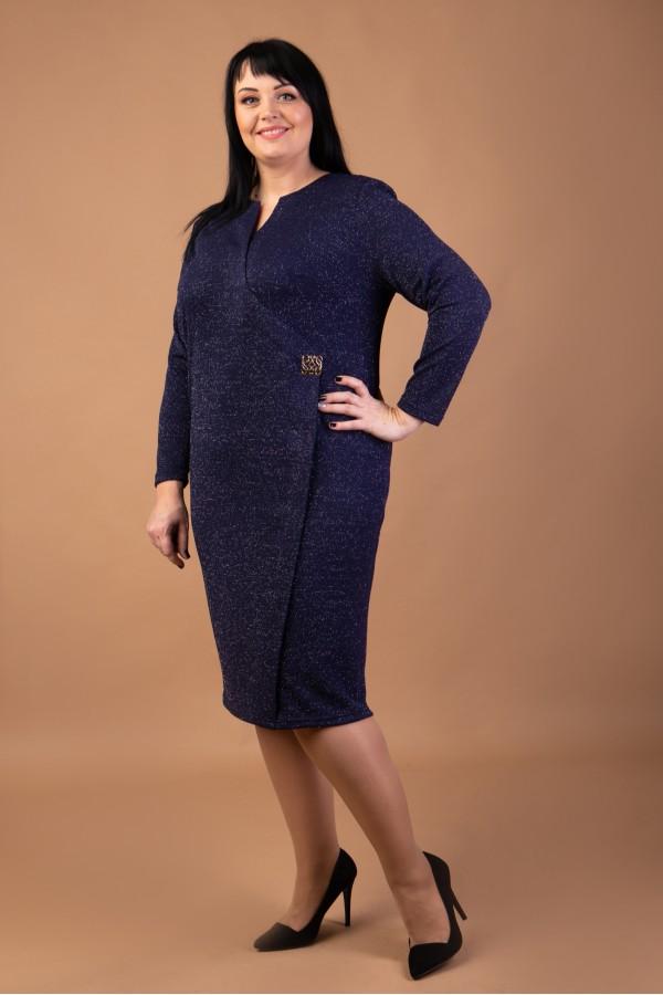 Коктельне плаття  великого розміру  VN41701 трикотаж люрекс