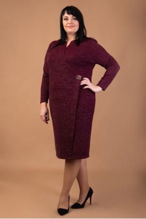 Коктельне плаття  великого розміру  VN41702 трикотаж люрекс