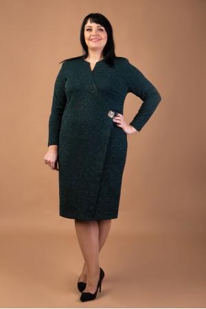 Коктельне плаття  великого розміру  VN41703 трикотаж люрекс