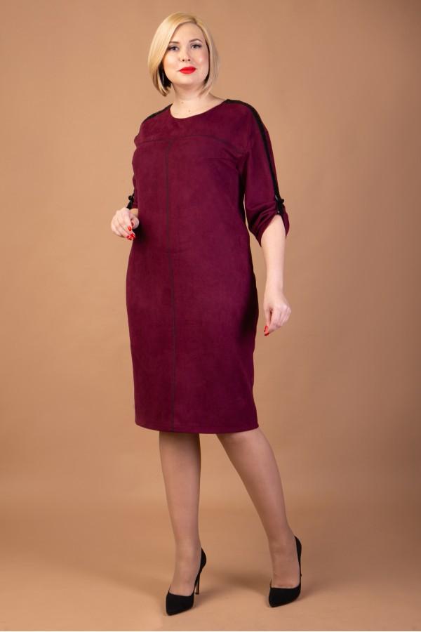 Замшеве бордове плаття з нової колекції VN41802