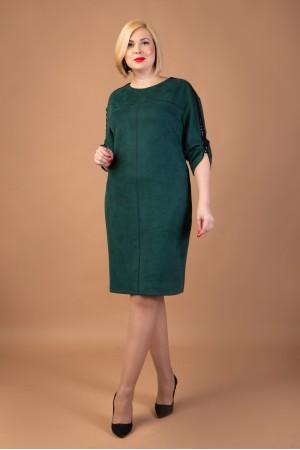 Замшеве бордове плаття з нової колекції VN41803