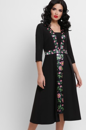 Вечірнє плаття Вілора GL851201 чорного кольору