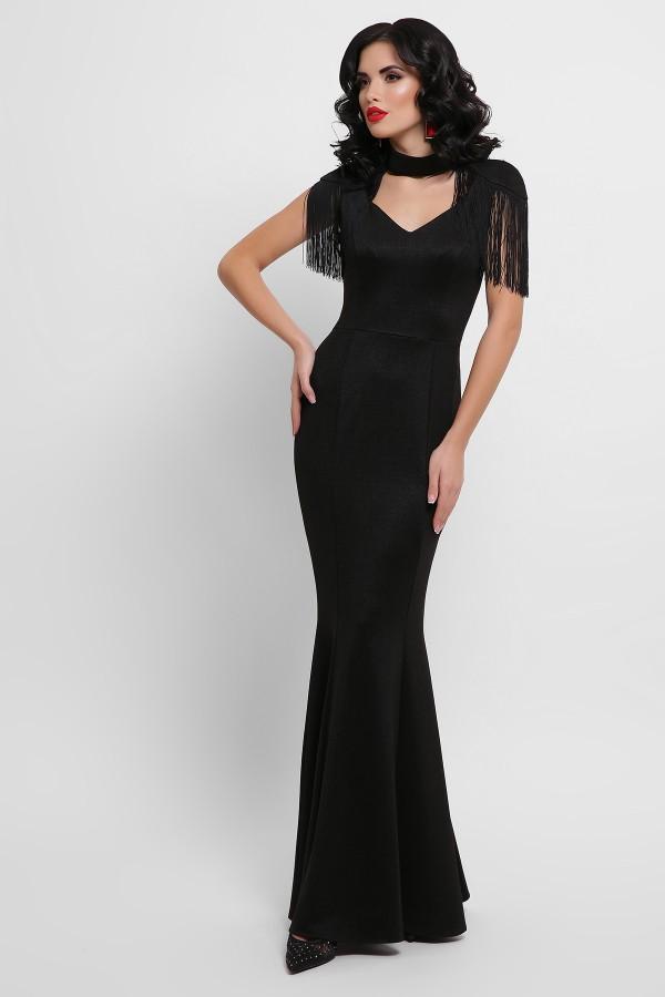 Платье Альфия б/р GL53204 цвет черный