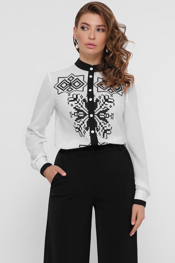 Блуза  з чорним візерунком Персія GL54791