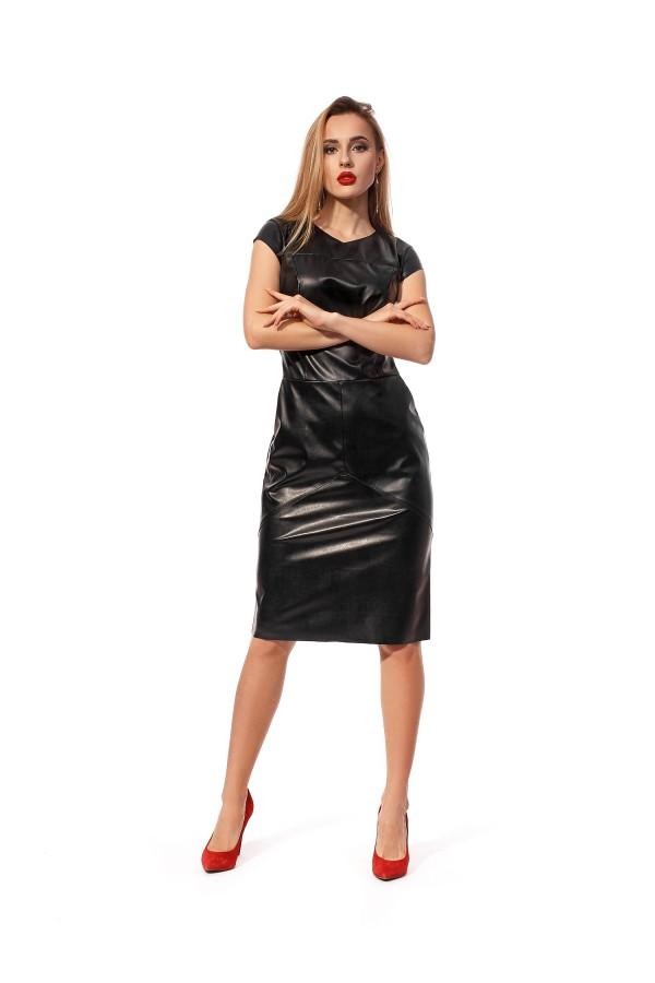 Святкове плаття  з екошкіри SL122601