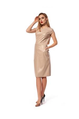 Святкове плаття  з екошкіри SL122602