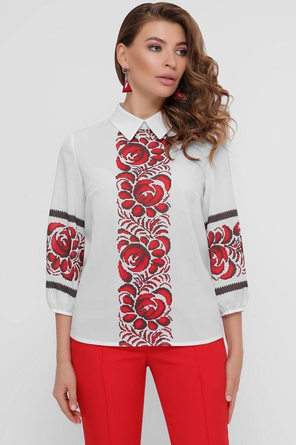 Блуза  з  етно візерунком Жулі GL54858 прінт