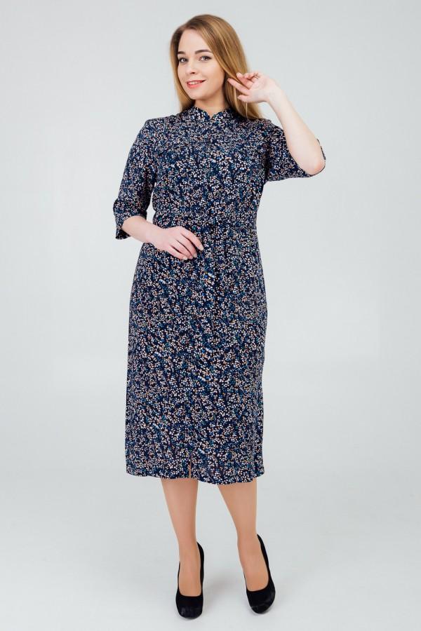 сукня 2020 великого розміру сині лепестки