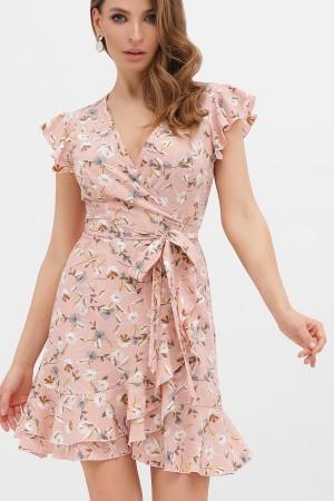 Легкое платье весны 20200 София GL867003 персик цветы