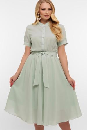 Платье весна большого размера 20200 Изольда GL867503 оливковый