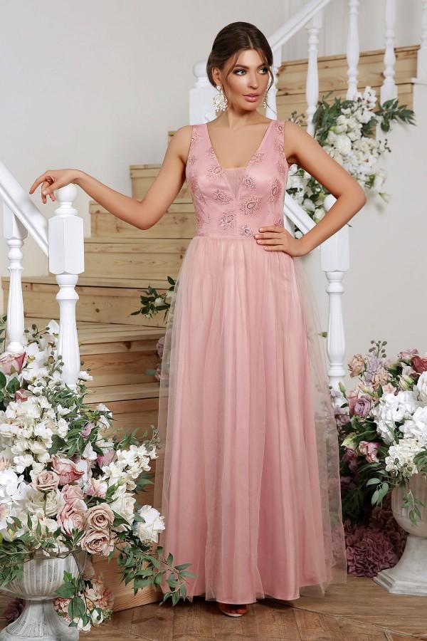 Шикарное вечернее платье 2020 Вайнона GL864402 лиловое