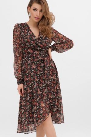 Сукня  весна 2020 Алеста 863004 чорний рожа