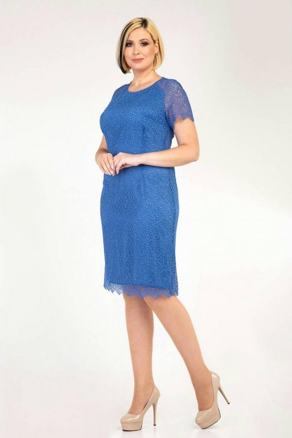 Платье 2020  большого размера 34701 голубой