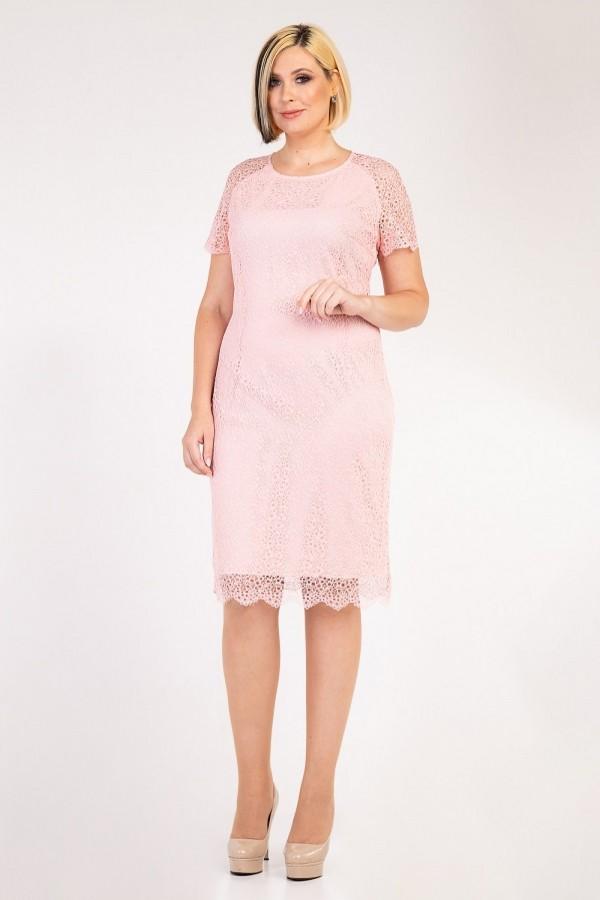 Святкове плаття 2020 великого розміру 34702 пудра