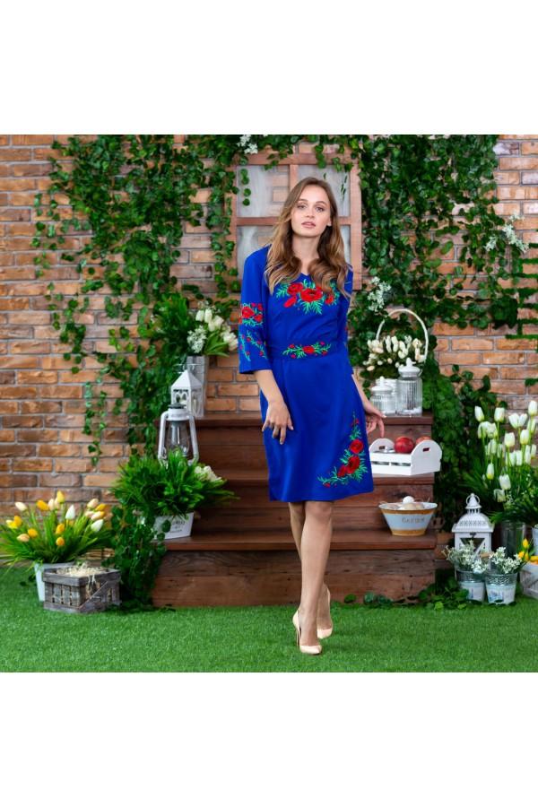 Етно-плаття вишиванка MR392 синя