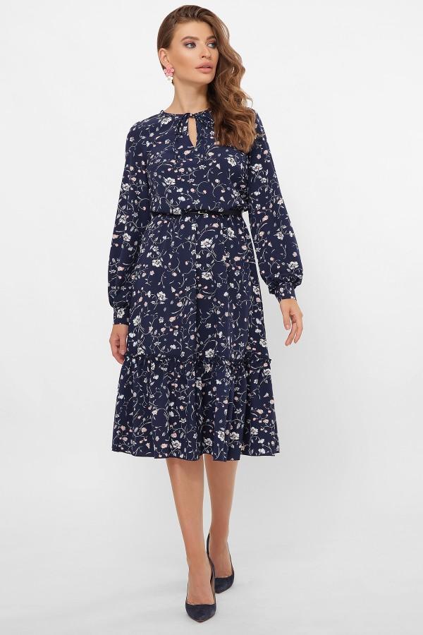 Плаття  осінь 2020 Агафья синя