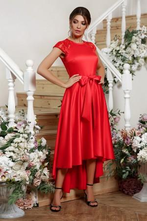атласна сукня Нінель 2020 червоний