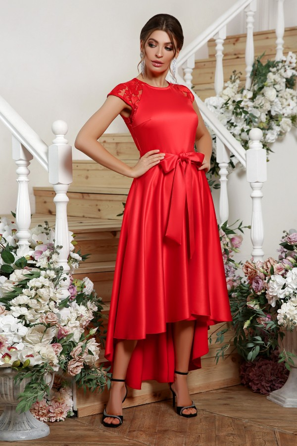вечернее платье Нинель 2020 атлас