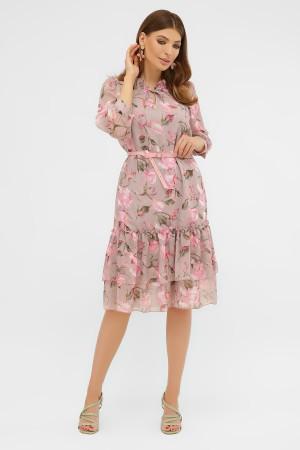 платье Элисон капучино цветы