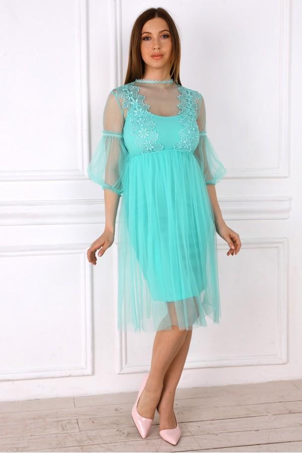 Нарядное платье с шифоном YM32103