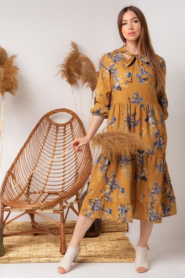 плаття YM40103 гірчиця