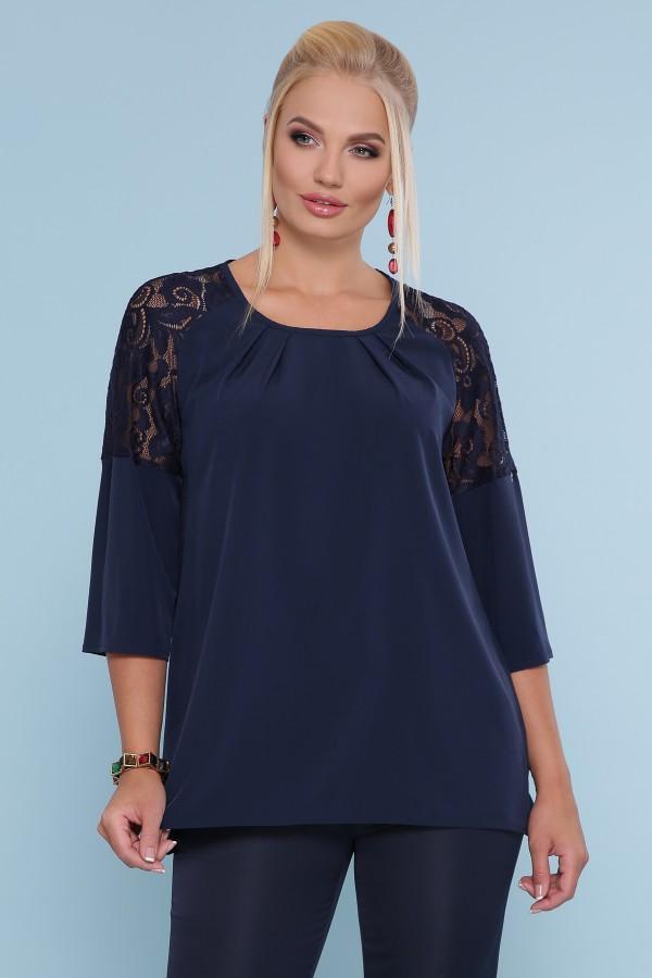 Блуза Гретта -Б GL872501 синего цвета
