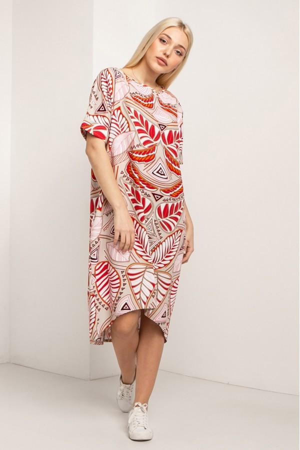 Льняное платье AVALINA с асимметрией