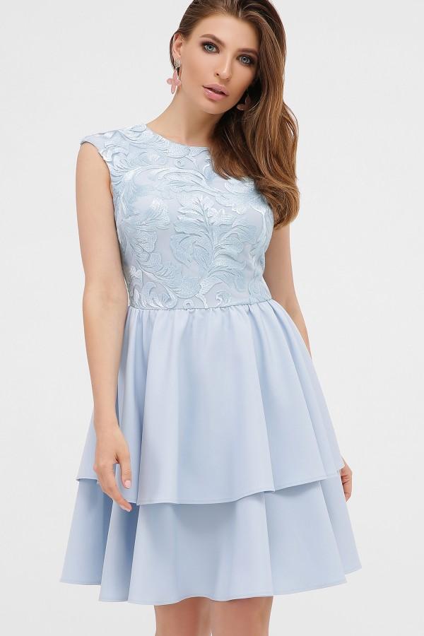 Летнее платье Лилия 2020  голубое