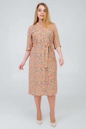 Стильне плаття весни 2020 великого розміру VN43103 персик лепестки