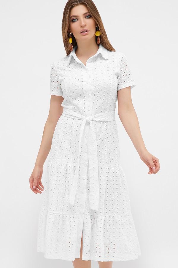 Платье Уника  прошва 2020 белый