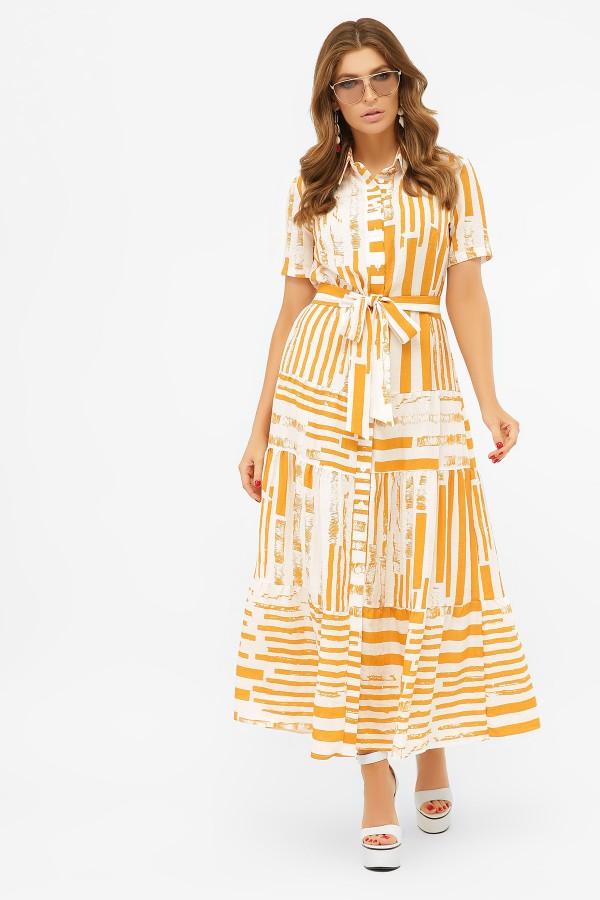 Летнее платье Дженни 2020 горчица
