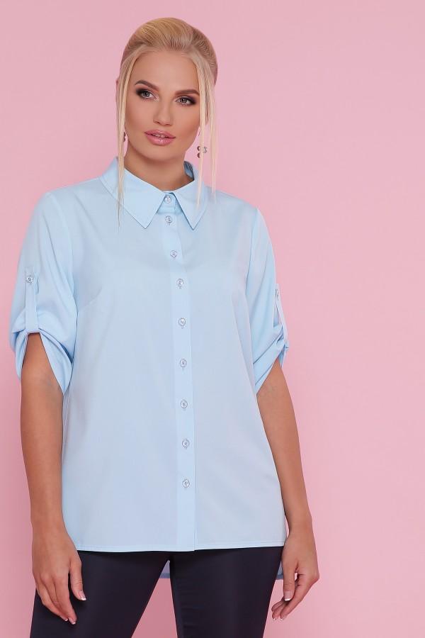 Блуза Лана -Б GL47785 голубого цвета