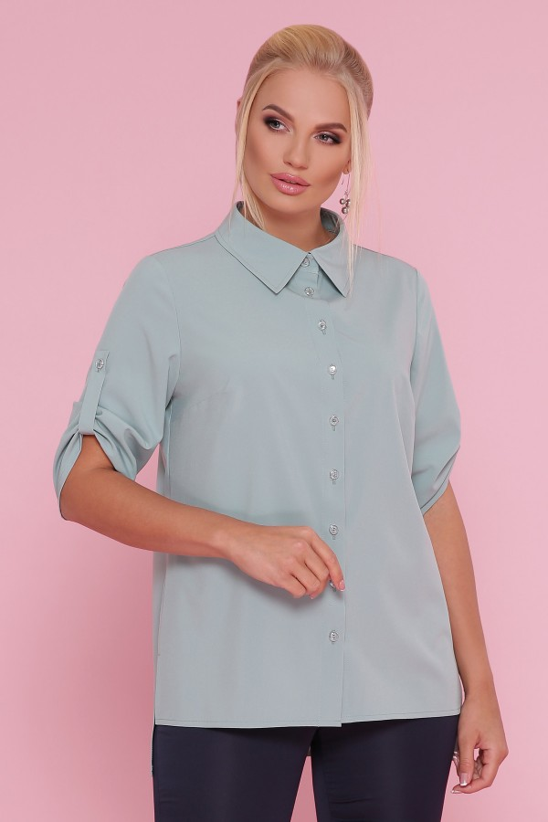 Блуза Лана -Б GL872203 оливкового цвета