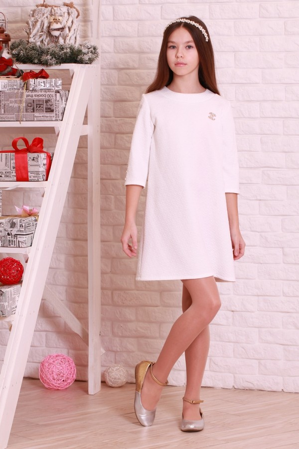 Платье 00201  молочный