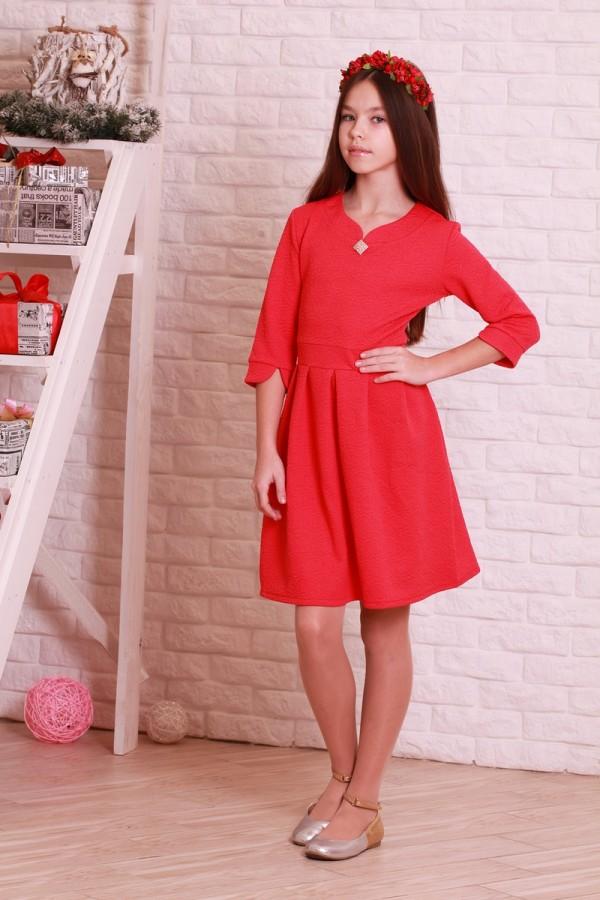 Платье 01201 красный
