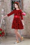 Плаття  01301 червоний