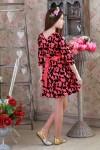 Платье 01304 коралл