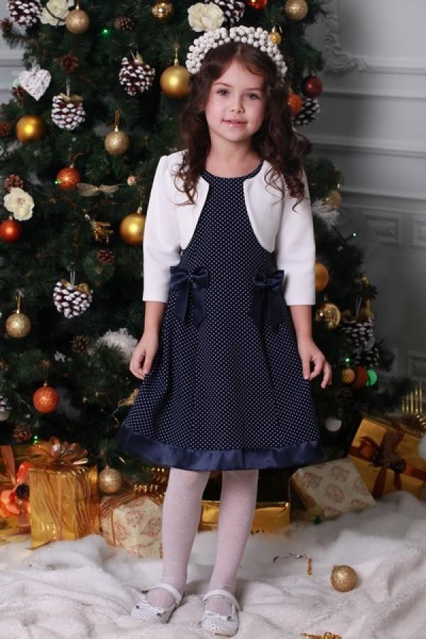 Платье   детское  синее 02001