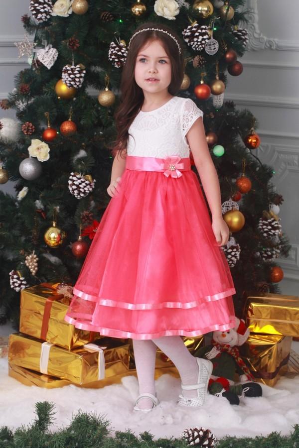 Платье   детское коралл 02302