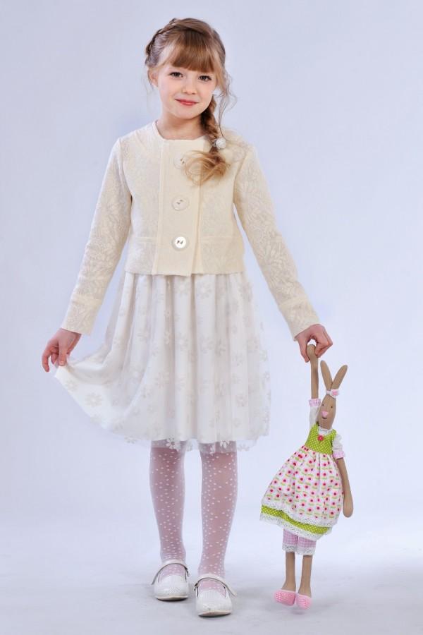 Костюм дитячий нарядний  білий DV03702
