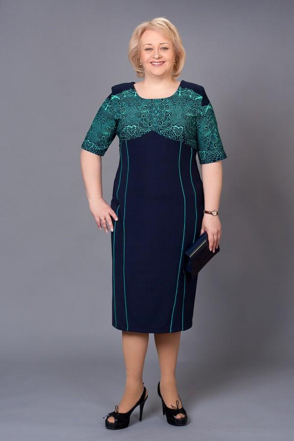 Платье Доминика 155 бирюза