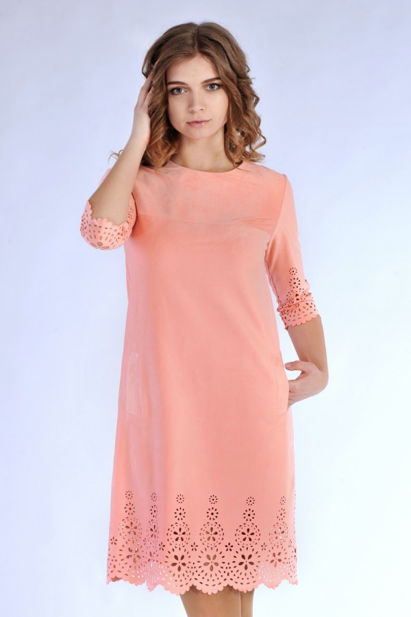 Плаття  18611 рожевий